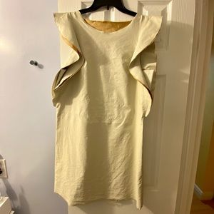 Faux leather dress with cotton on inner side